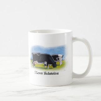 HOLSTEIN COWS PASTEL ART COFFEE MUG