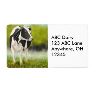 Holstein Dairy Cow Label Shipping Label