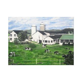 Holstein dairy farm. canvas print
