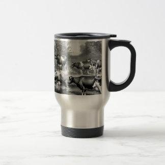 Holstein fresian cows fresian cows travel mug