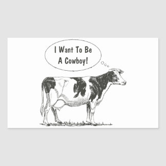 Holstein Thought Cow Customize It Sticker