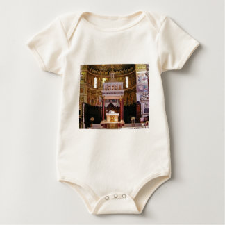 holy alter in church baby bodysuit