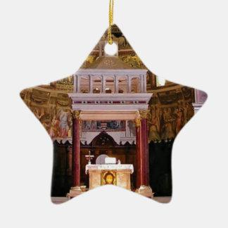 holy alter in church ceramic ornament