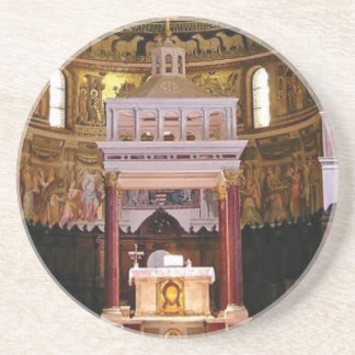 holy alter in church coaster