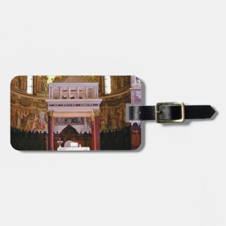 holy alter in church luggage tag
