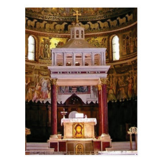 holy alter in church postcard