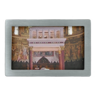 holy alter in church rectangular belt buckle