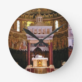 holy alter in church round clock