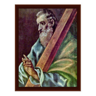 Holy Apostle Andrew By Greco El Postcard