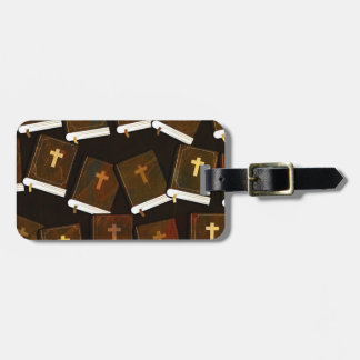 Holy Bible abstract ministry Luggage Tag