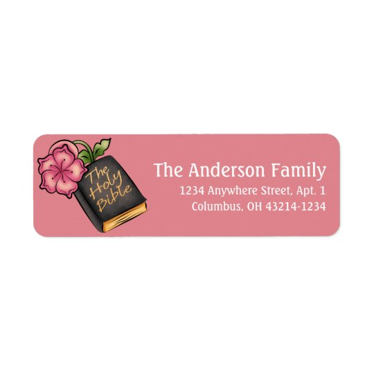 Holy Bible Easter Christian Address Labels