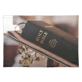Holy bible placemat