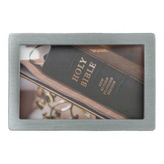Holy bible rectangular belt buckle