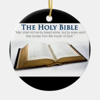 Holy Bible Round Ceramic Ornament