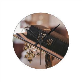 Holy bible round clock