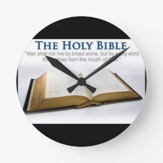Holy Bible Round Clock