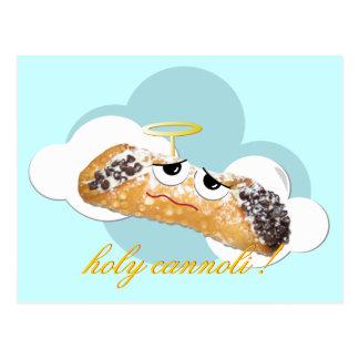 holy cannoli ! humorous parody postcard