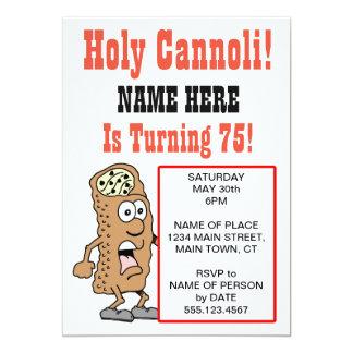 Holy Cannoli Turning 75 Party Invitation