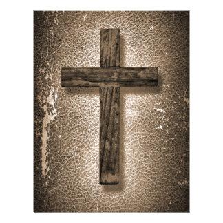 Holy Christ Cross wooden Letterhead