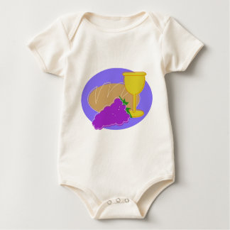 Holy Communication Drawing Baby Bodysuit