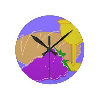 Holy Communication Drawing Round Clock