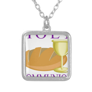 Holy Communication Silver Plated Necklace