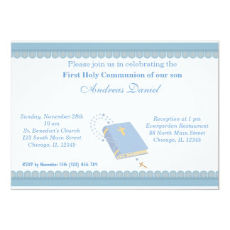 Holy Communion 5x7 Paper Invitation Card