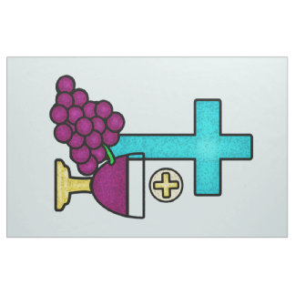 Holy Communion Cross Chalice Bread Fabric