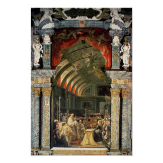 Holy Communion of Charles II Poster