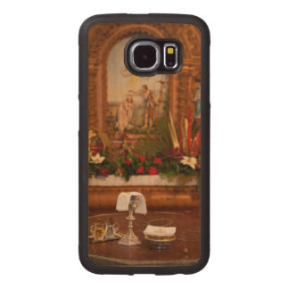 Holy communion wood phone case