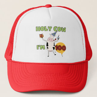 Holy Cow 100th Birthday Tshirts and Gifts Trucker Hat