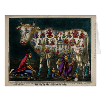 Holy Cow as Mother of The World, Sacred Animal Card