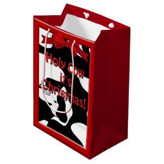 Holy Cow Christmas Med GB Medium Gift Bag