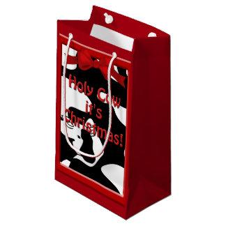 Holy Cow Christmas Sml GB Small Gift Bag