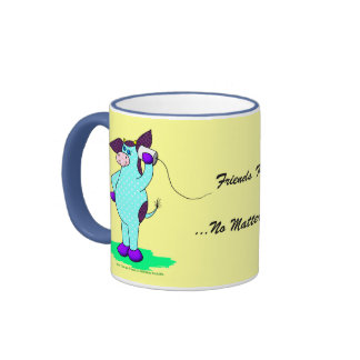 "Holy Cow, ""Friends Keep In Touch"" Ringer Coffee Mug"