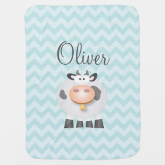 Holy Cow Funny Cute Farm Animal Cartoon Unisex Baby Blanket