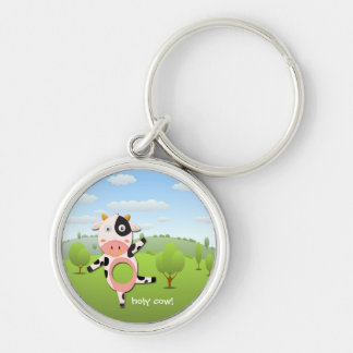 holy cow! Funny Farm key Chain