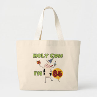 Holy Cow I'm 85 Birthday Tshirts and Gifts Large Tote Bag