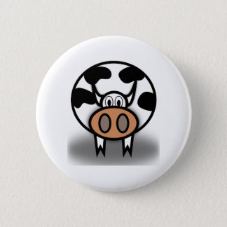 """Holy Cow!""  it's a cow button... 2 Inch Round Button"