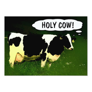 "Holy Cow! New Country Home Housewarming Party 5"" X 7"" Invitation Card"