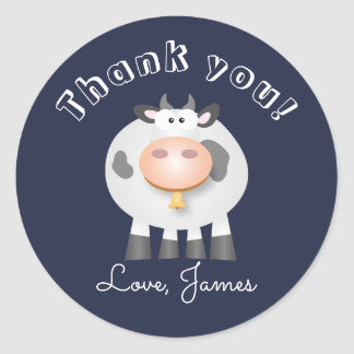 Holy Cow Thank You For Coming Birthday Party Favor Classic Round Sticker