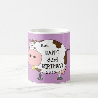 "Holy Cow!-This is your ""any age here"" birthday Coffee Mug"