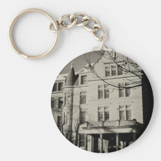 Holy Cross Hall, St. Mary's College Basic Round Button Keychain
