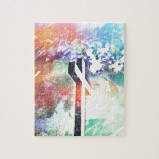 Holy Cross Pastel Distressed Puzzle