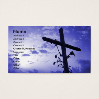 Holy Cross purple sky business card profile card