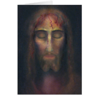 Holy Face of Christ with Poem: Sorrow Shared Card