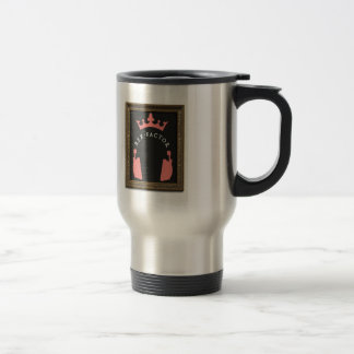 Holy Face of Lucca! Pink Travel Mug