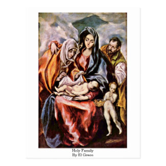 Holy Family By El Greco Postcard