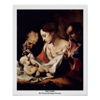 Holy Family By Petrini Giuseppe Antonio Poster