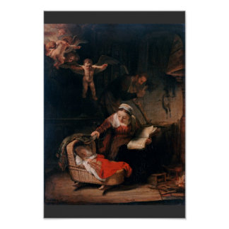 Holy Family By Rembrandt Harmensz. Van Rijn Poster
